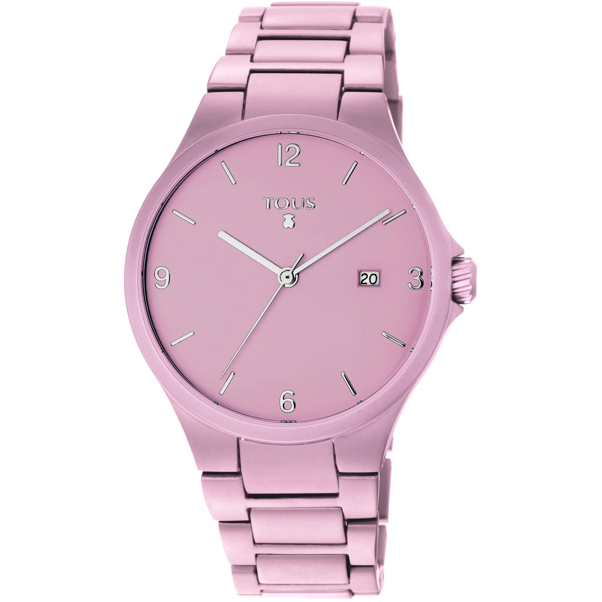 Pink anodized aluminum Motion Aluminio Watch