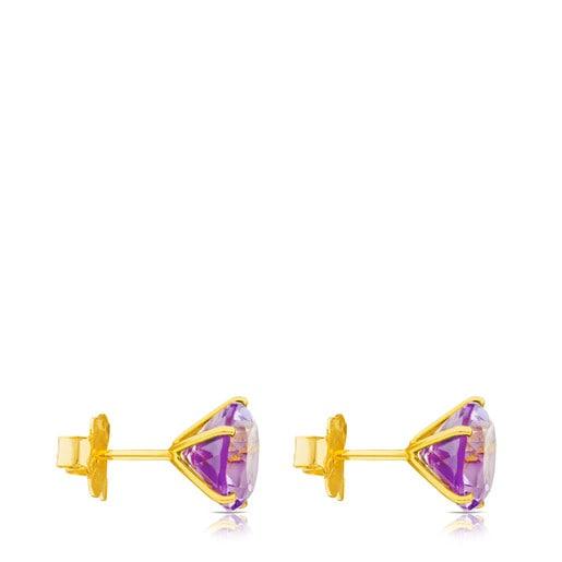 Σκουλαρίκια Ivette από Χρυσό με Αμέθυστο