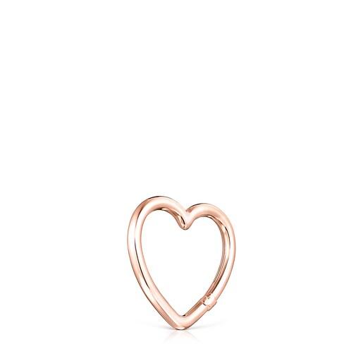 Anilla mediana Hold corazón de Plata Vermeil rosa