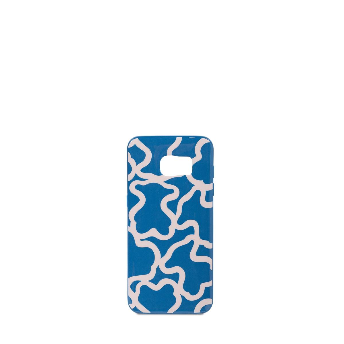 aee4fd6c426 Funda de móvil Samsung Galaxy S7 Edge Kaos en color azul y rosa ...