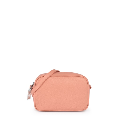 Small orange leather Sira crossbody bag