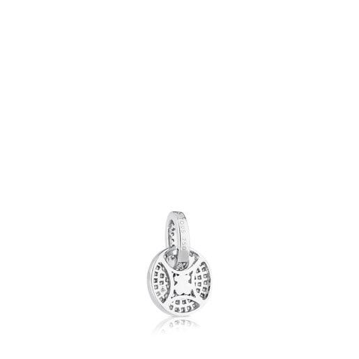 White Gold TOUS Diamond Pendant with Diamond