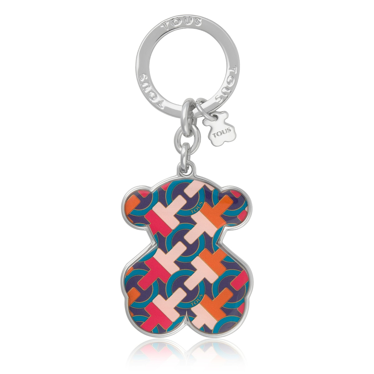 Multi-pink Oso T Hold Key ring