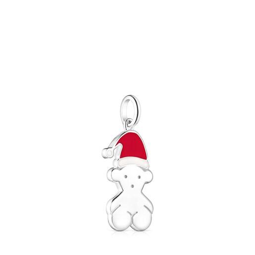 Silver Xmas Collection Santa Pendant