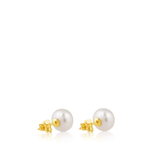 Gold TOUS Pearls Earrings with Pearls
