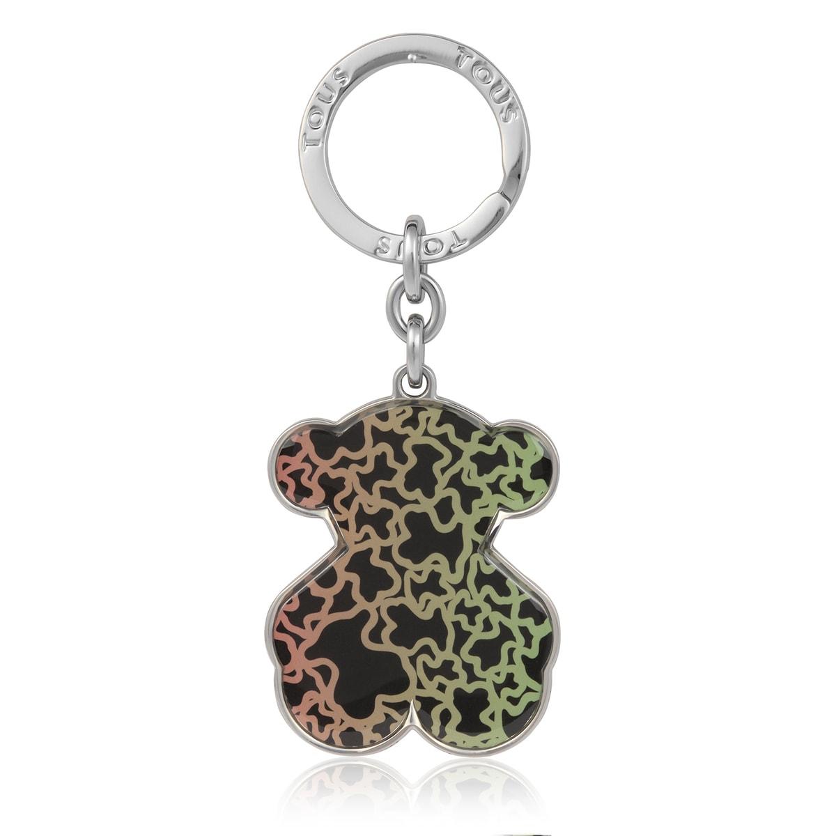 Porte-clés Kaos Mini Dégradé ourson multicolore et noir