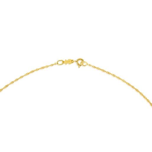 Gargantilla TOUS Chain de oro en espiral, 45cm.