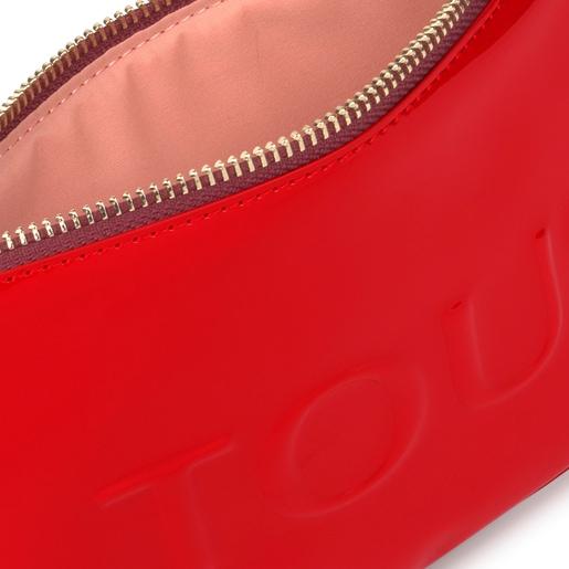 Mittelgroße Kosmetiktasche Dorp in Pink und Rot