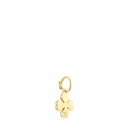 Silver Vermeil TOUS Good Vibes clover Pendant with Gemstones