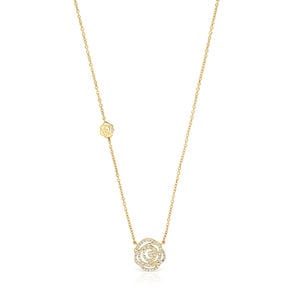 Gold ATELIER Rosa de Abril necklace with Diamonds