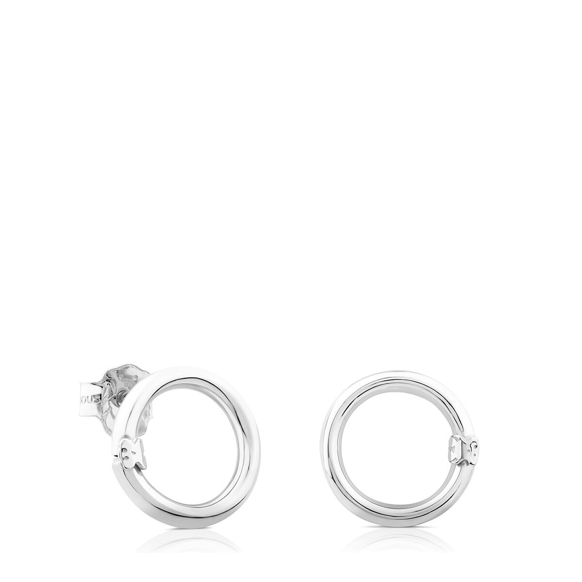 Silver Hold Earrings Set