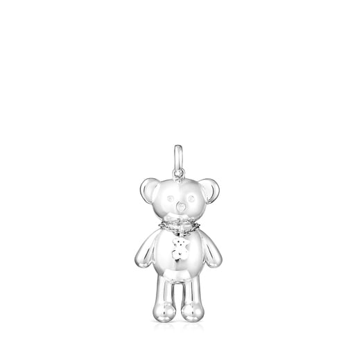 Silver Teddy Bear necklace Pendant
