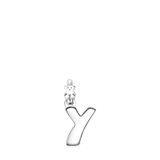 Pingente Alphabet letra Y em Prata
