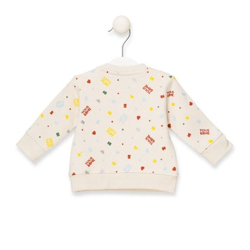 """Sweatshirt """"Let's play"""" Cru"""