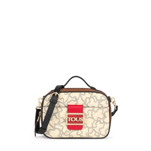 Multi-beige Kaos Icon Crossbody reporter bag