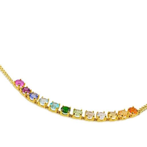 ネックレス Mix Color カラーストーン / 18金ゴールド / 40cm