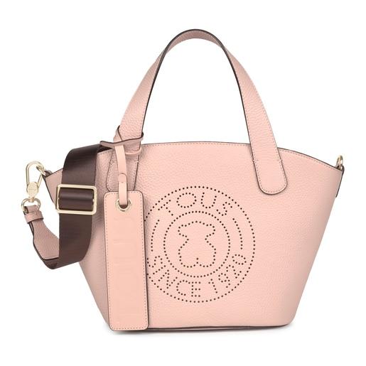 Sac shopping Leissa petit en Cuir de couleur rose clair