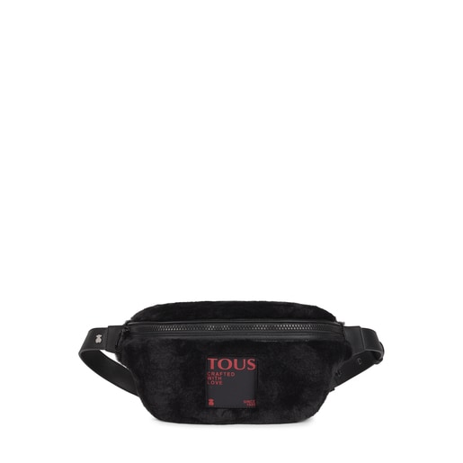 Black Amaya Fur Waist bag