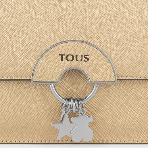 Gold small Hold crossbody bag