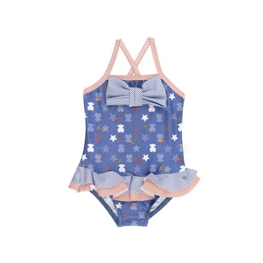 Fato de banho menina alças Sea Star Azul Marinho