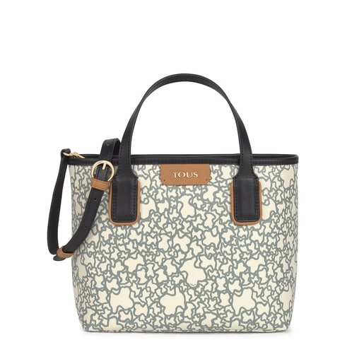 Small black and beige Kaos Mini Tote bag