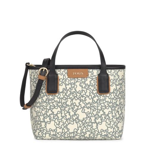 Small black and beige Kaos Mini Tote bag