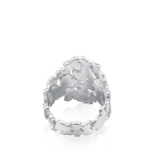 Silver TOUS Hill Ring Bear motif 1,7cm.