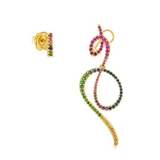 Ohrringe Lio aus Gold mit Edelsteinen