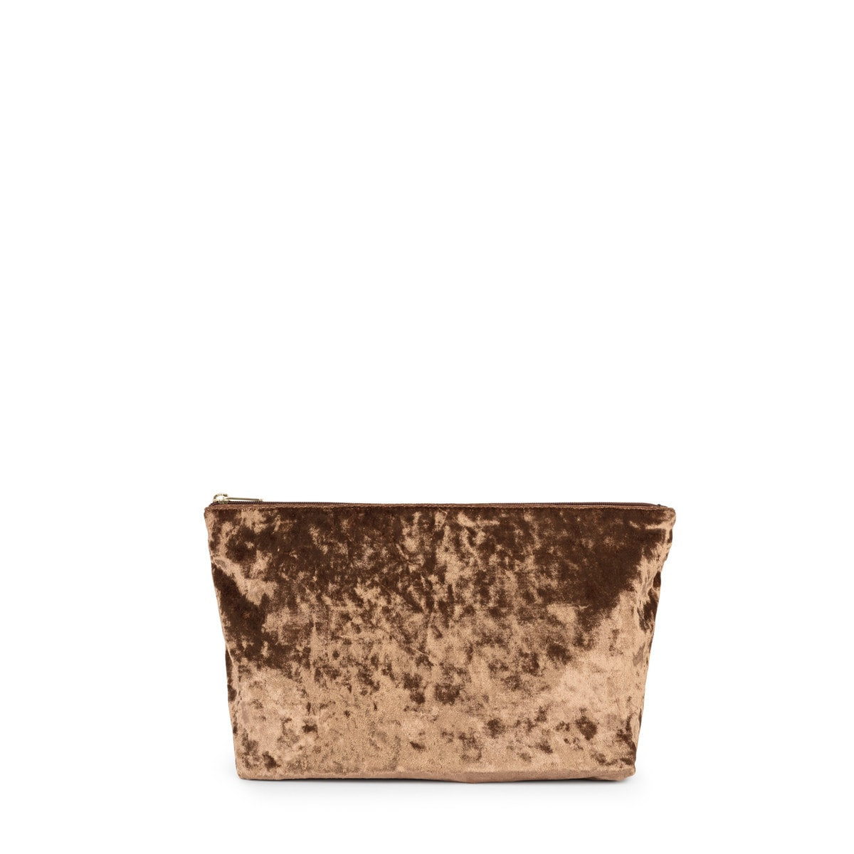 Small gold colored Velvet Kaos Shock Handbag