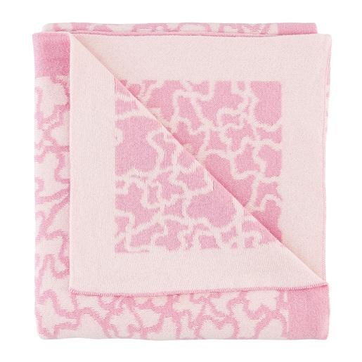 Reversible pink Kaos blanket