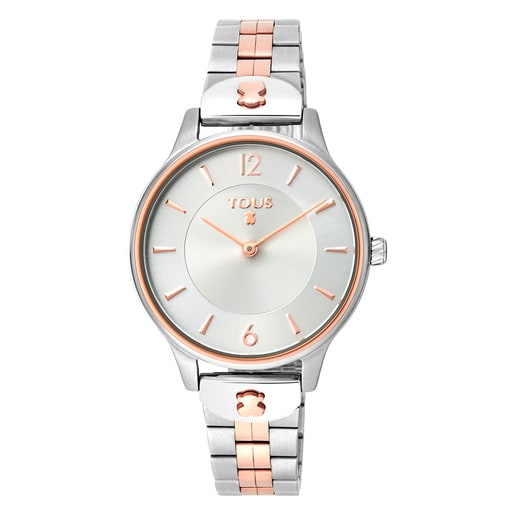 Two-tone rose IP/Steel Len Watch
