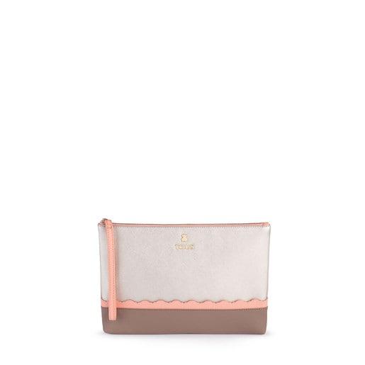 Silver-pink colored Carlata Clutch bag