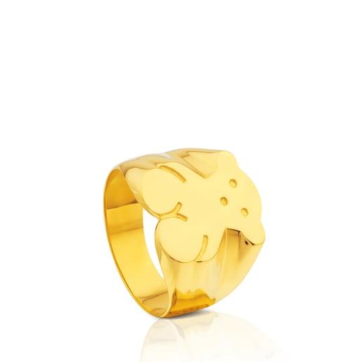 Gold TOUS Bear ring