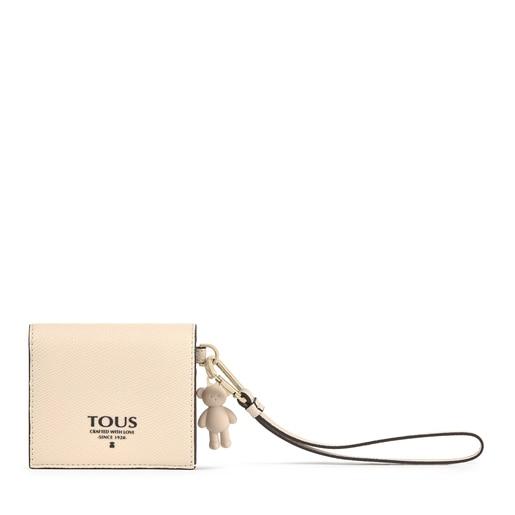 Small beige TOUS Pop Wallet