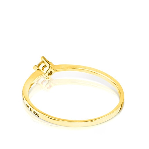 Gold TOUS Brillants Ring with 0,10ct Diamond