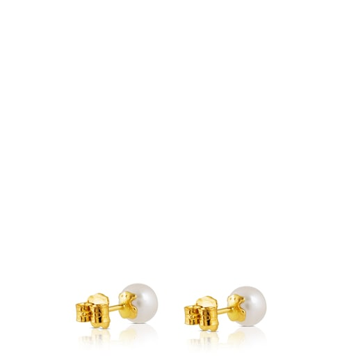 Gold TOUS Pearl Earrings with Pearl