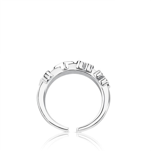 Steel TOUS Basics Ring