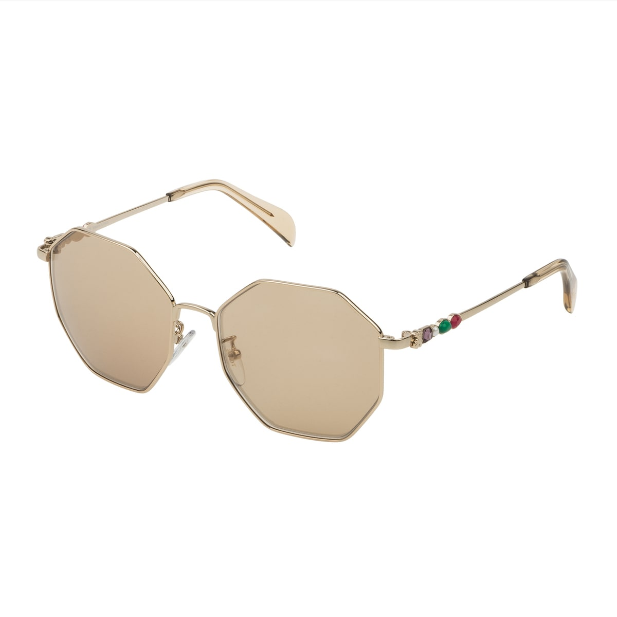 Camel colored Jolie Seventies Metal Sunglasses