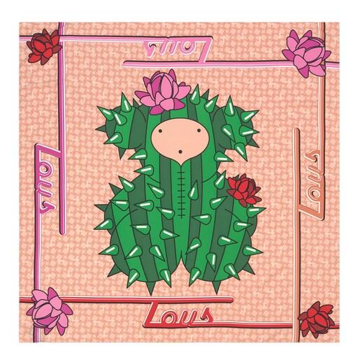 Lenço Quadrado Cactus