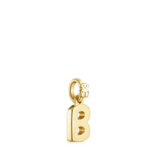 Alphabet-Anhänger B aus Vermeil-Gold