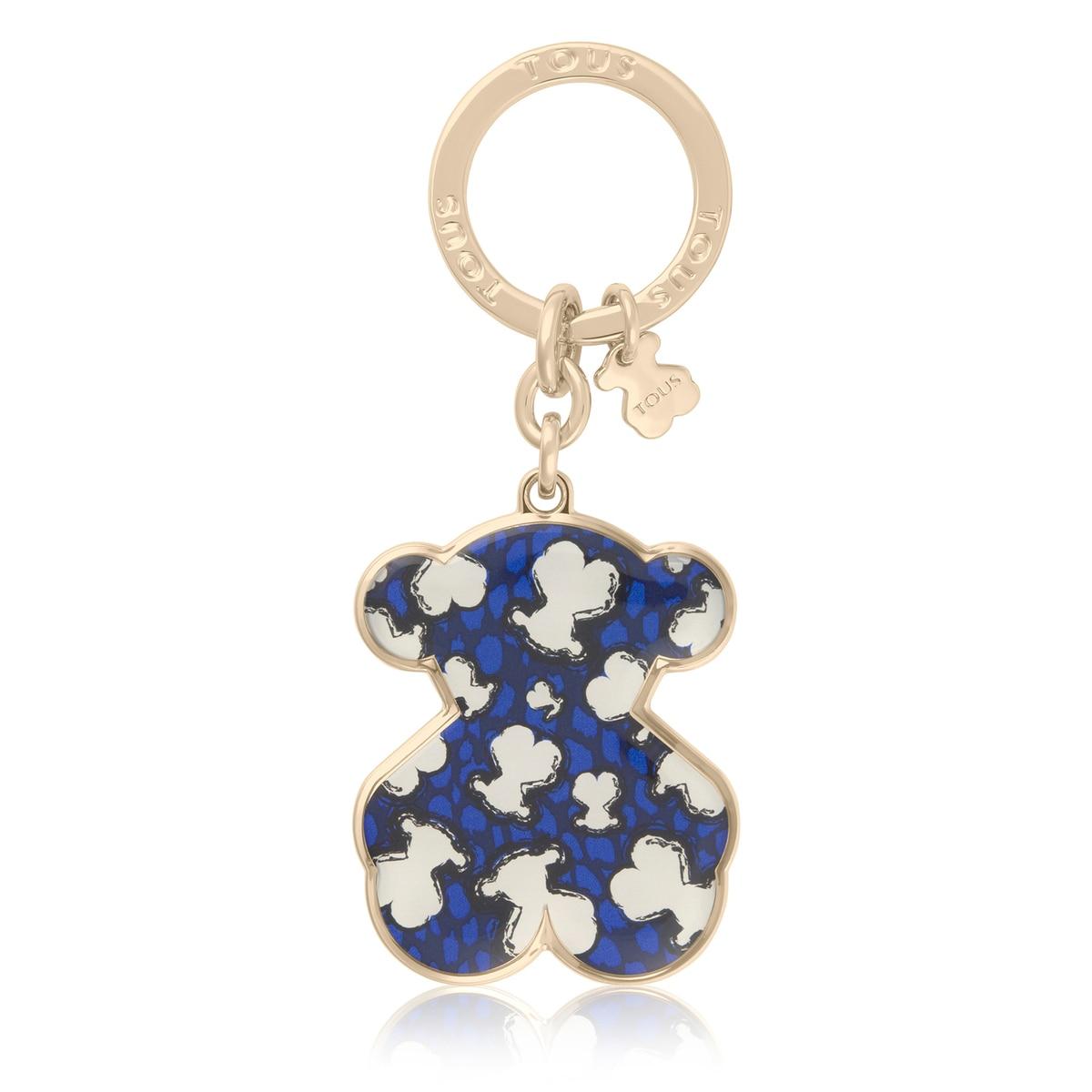 Lene Leo blue bear keychain