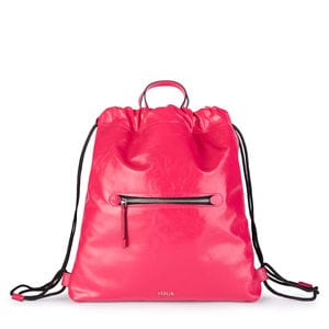 Fuchsia Leather Tulia Crack Backpack