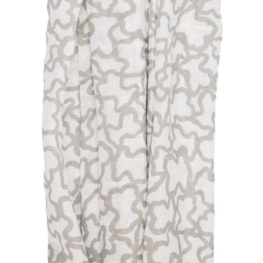 Mousseline Kaos avec housse Ourson gris