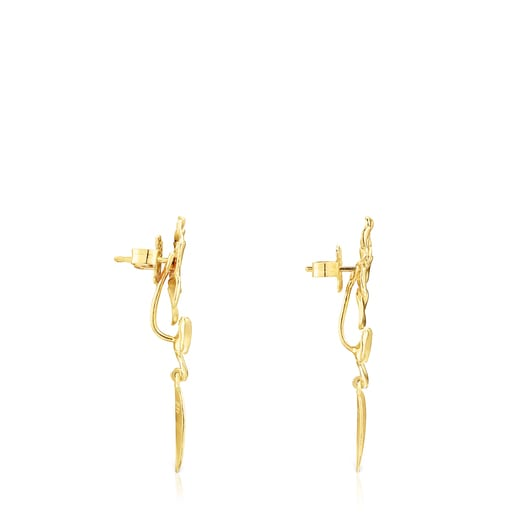 Short Silver Vermeil Fragile Nature Earrings