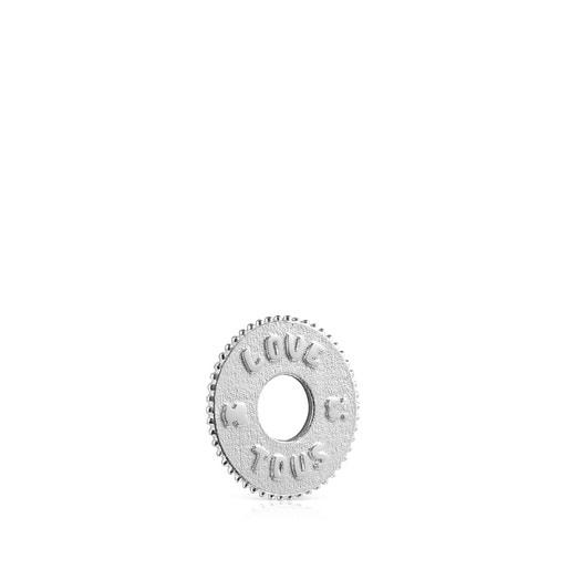 Colgante Medallions Respect & Smile disco de Plata