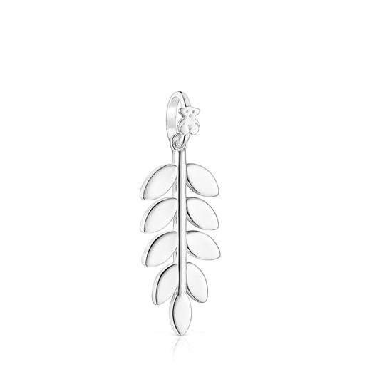 Silver Fragile Nature laurel leaf Pendant