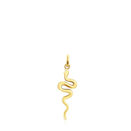 Pendentif Fragile Nature serpent en Argent vermeil