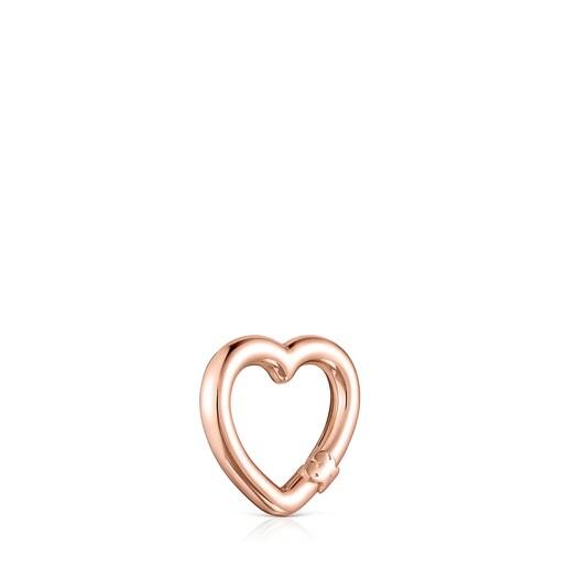 Anilla pequeña Hold corazón de Plata Vermeil rosa