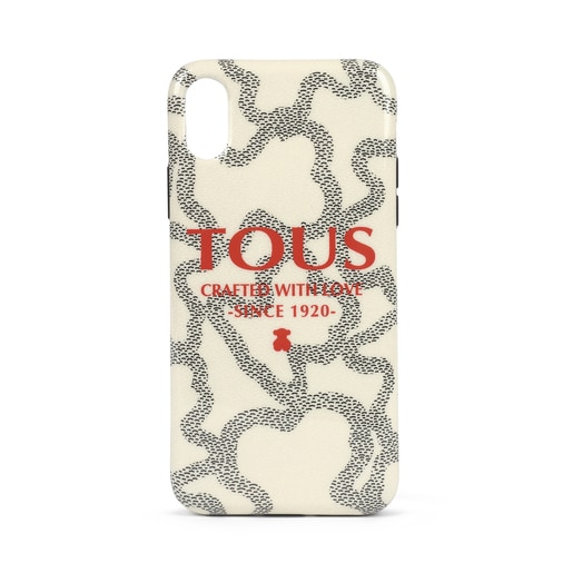 X/XS beige Delray Kaos Icon Logo Cellphone cover