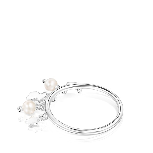 Silver and Pearls Cool Joy Ring